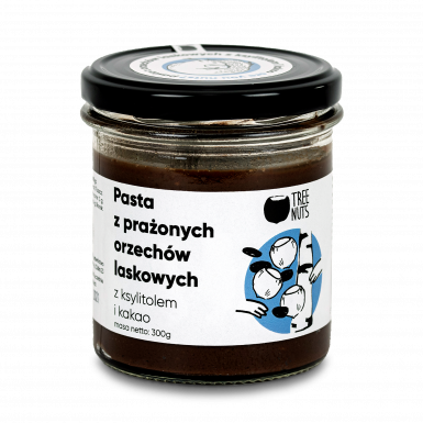 Roasted hazelnut spread with xylitol and cocoa